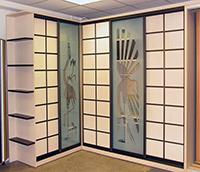Слайд дверь с узорами