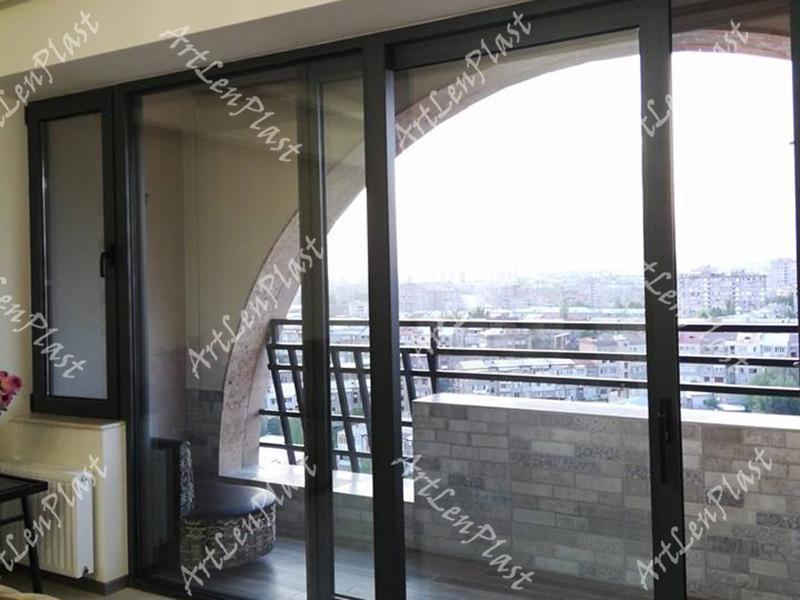 Ալյումինե սլայդ դռներ