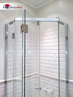 Shower cabin with folding doors