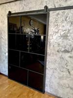Слайд дверь в стиле лофт
