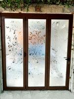 Aluminum thermal insulation doors