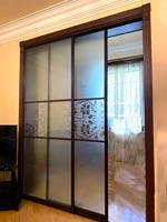 Многофункциональная стеклянная раздвижная дверь